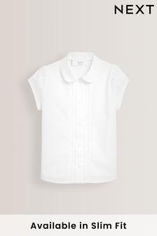 Рубашка с короткими рукавами и кружевом (3-14 лет)