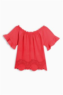 Jersey Woven Blouse (3-16yrs)