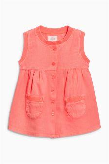 纽扣门襟女衬衫 (3个月-6岁)