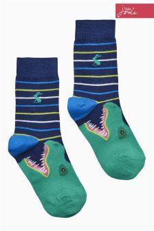 Joules Black Dinosaur Socks