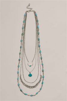 Turquoise Detail Layered Necklace