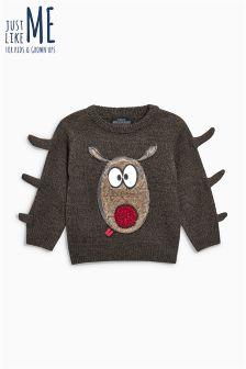 Boys Christmas Rudolph Jumper (3mths-6yrs)