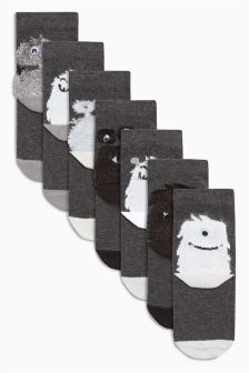 Monster Socks Seven Pack (Younger Boys)