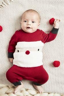 Santa Knitted Romper (0mths-2yrs)
