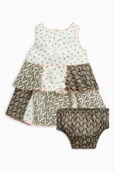 Patchwork Tunic And Knickers Set (0mths-2yrs)