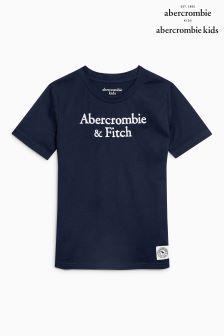 Abercrombie & Fitch Navy Script Logo T-Shirt