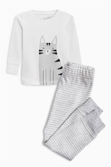 Cat Snuggle Fit Pyjamas (9mths-6yrs)