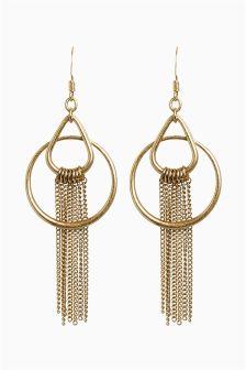 Tassel Detail Drop Earrings