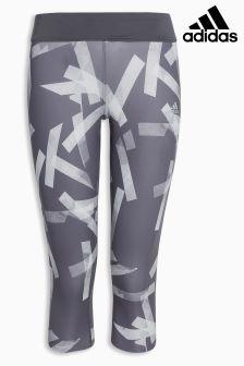 adidas Grey 3/4 Printed Run Tight