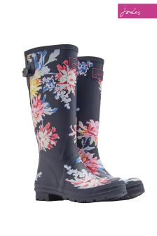 Joules Navy Whitsable Floral Printed Welly