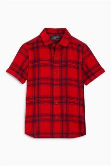 短袖方格衬衫 (3个月-6岁)