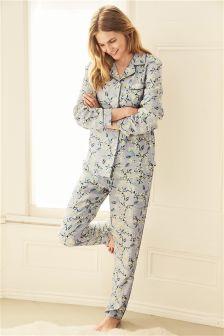 Ditsy Floral Print Button Through Pyjamas