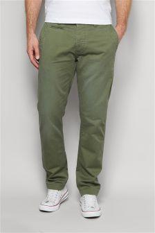 Однотонные облегающие брюки чинос