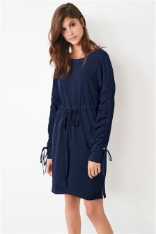 Ruched Sleeve Dress