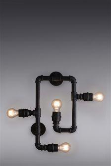 Pipe 4 Light Wall Light