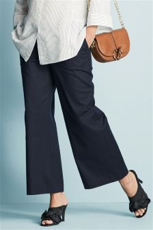 Maternity Wide Leg Cropped Trousers