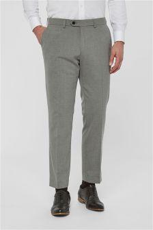 Однотонные брюки без защипов из эластичной ткани