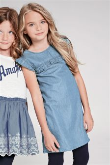 Ruffle Shift Dress (3-16yrs)