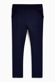 Frill Pocket Ponte Stretch Trousers (3-16yrs)