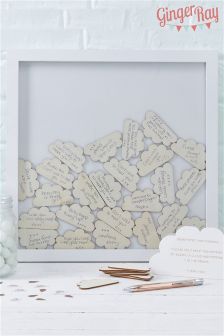Ginger Ray Cream Personalised Frame Guest Book