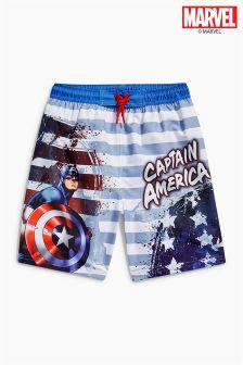Szorty kąpielowe Kapitan Ameryka (3-12 lat)