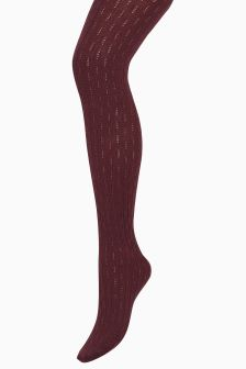 Textured Knitted Tights One Pack