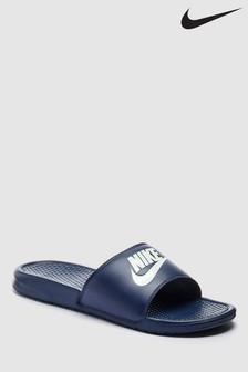Nike Navy Benassi Just Do It Sandal