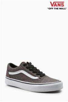 Czarne, brokatowe buty Vans Old Skool
