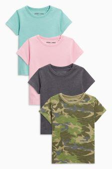 Short Sleeve Playful T-Shirt Four Pack (3mths-6yrs)