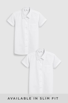 Short Sleeve Formal Shirt Two Pack (3-16yrs)