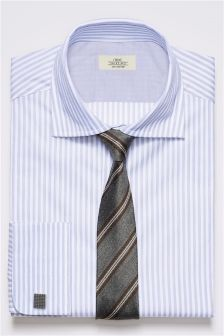 Bold Striped Shirt And Tie Set
