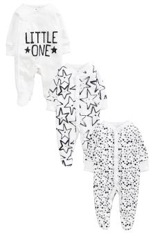 Little Star Sleepsuits Three Pack (0-18mths)