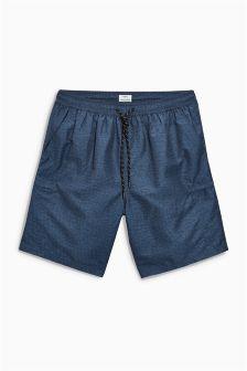 Fabric Interest Cargo Swim Shorts