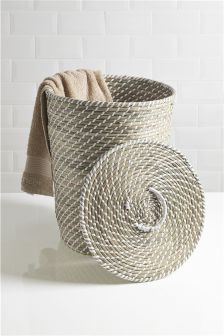 Seagrass Weave Laundry Basket