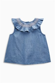 Блузка с рюшами (3 мес.-6 лет)