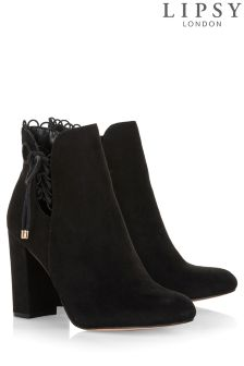 Lipsy Scallop Tie Detail Ankle Boots