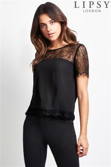 Lipsy Lace Insert Top