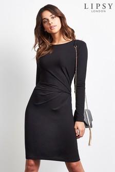 Lipsy Long Sleeve Knot Dress