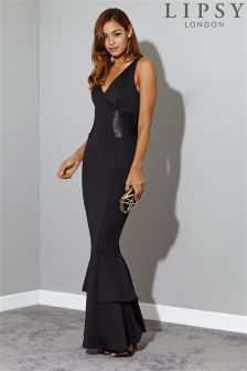 Lipsy V neck Fishtail Maxi Dress