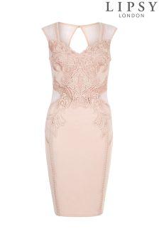 Lipsy Love Michelle Keegan Figurbetontes Kleid mit Applikation