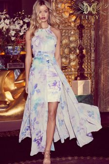 Lipsy VIP High Neck Printed Maxi Dress
