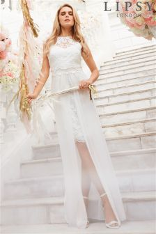 Lipsy Bridal Juliette Highneck Lace Dress