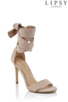 Lipsy Suedette Tie Sandals