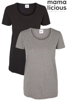 Mamalicious Maternity Basic Nursing T-Shirts