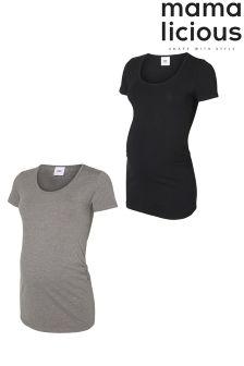 Mamalicious Pack Of 2 Maternity T-Shirts