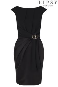 Lipsy Curve Short Sleeved Tie Waist Bodycon Dress
