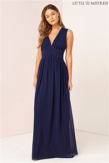 Little Mistress Lace Backed Maxi Dress