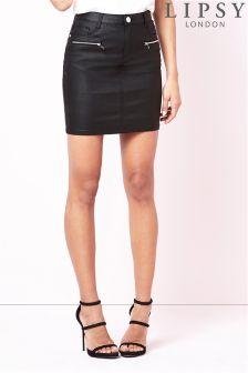 Lipsy Coated Mini Skirt