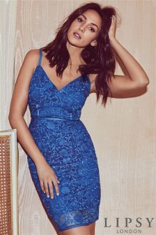 Lipsy Love Michelle Keegan Sequin Embroidered Bodycon Dress