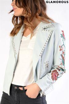Glamorous Studded Embroidered Jacket